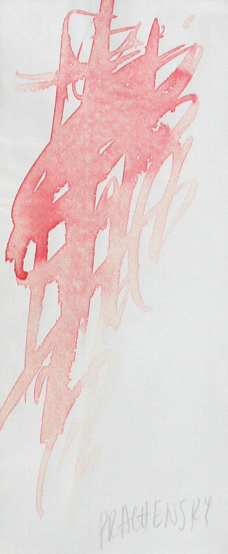 Markus Prachensky: Komposition in Rot   ARGUS Art Asset Austria, Wien
