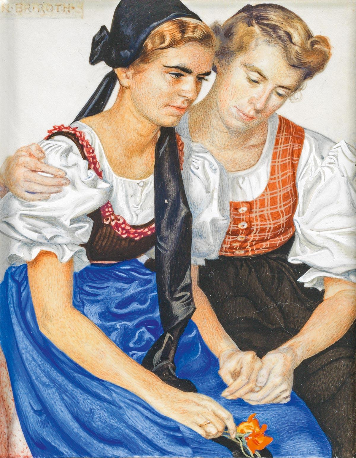 Norbertine Bresslern-Roth: Else und Charlotte von der Hellen | ARGUS Art Asset Austria, Wien